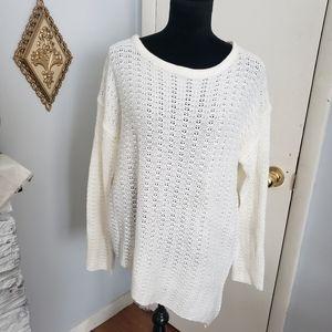 Caren Sport off white sweater. Size 3X